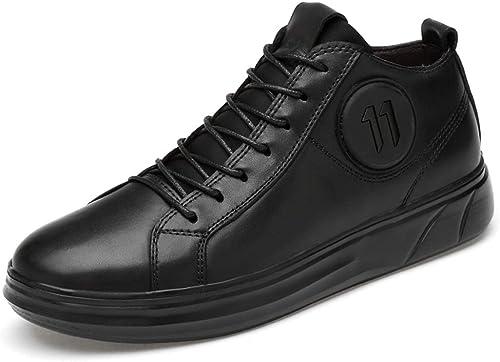 XHD-Men's zapatos botas de Tobillo de Moda Simple para hombres Tendencia Casual Ligero Suave botas Deportivas Impresas (Velvet cálido Opcional)