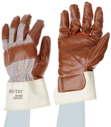 Ansell Hyd-Tuf 52-547 Mehrzweckhandschuhe, Mechanikschutz, Braun, Größe 10 (12 Paar pro Beutel)