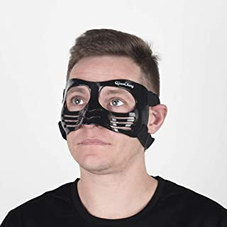 Qiancheng Nose Guard Face Shield, Protective Face Mask LX Black with Silicone Padding