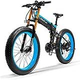 Bici electrica, 26 pulgadas eléctrica delantera de la bici y del freno de disco trasero 48V 1000W Motor con pantalla LCD pedal de bicicleta asistida por 14.5Ah de ion de litio actualizado a las bicis