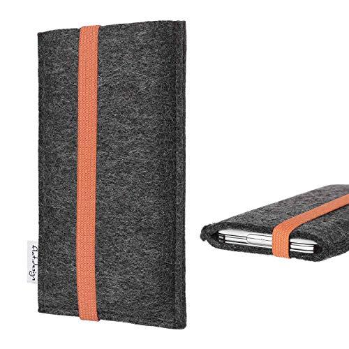 flat.design vegane Handyhülle Coimbra kompatibel mit BlackBerry KEY2 (Dual-SIM) - Smartphone Tasche Handmade in Germany - Handytasche aus Filz