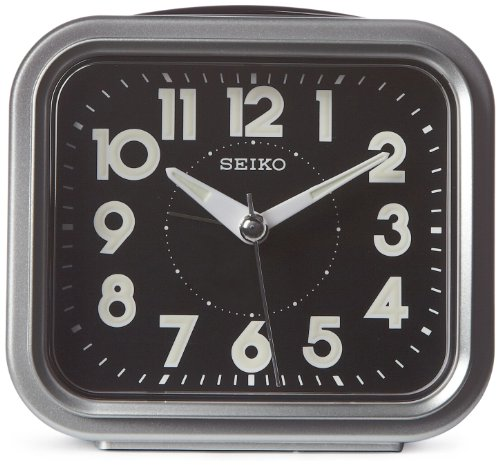Seiko 4' Traditional Square Bell Alarm With Snooze and Dial Light