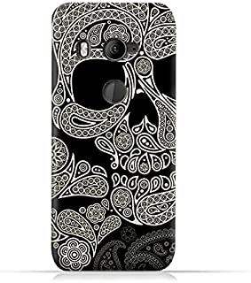 AMC Design Skull & Paisley Design Silicone Protective Case For HTC U11 Eyes - Black & White