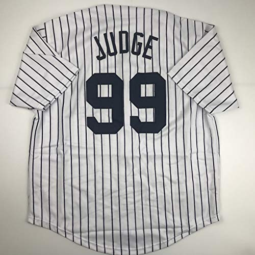 Unsigned Aaron Judge New York Pinstripe Custom Stitched Baseball Jersey Size Men's XL New No Brands/Logos