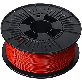 3D Prima PrimaValue PLA Filament, 1.75 mm, 1 kg Spool, Red