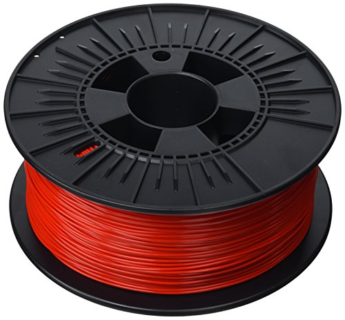 3D Prima PrimaValue PLA Filament, 1.75 mm, 1 kg Spool, Red