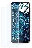 Bruni Schutzfolie kompatibel mit Motorola Moto E6 Plus Folie, glasklare Bildschirmschutzfolie (2X)