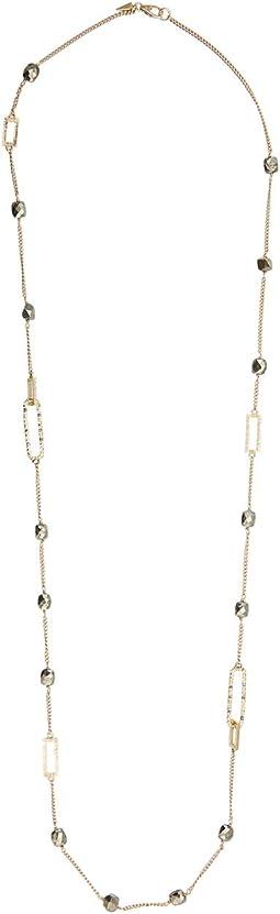 Crystal Encrusted Link Necklace
