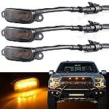 Boigoo Front Grille Lights for 2004-2019 Ford F-150 Raptor & 2013-2018 Dodge Ram 1500 Raptor Style Aftermarket Grid Grilles