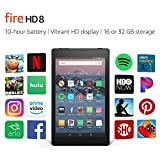 "Certified Refurbished Fire HD 8 Tablet (8"" HD Display, 16 GB) - Black with Show Mode Charging D…"