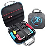 Nintendo Switch Ring Fit Adventure Carrying Case,YIKESHU Large Shockproof Portable Travel Bag Compatible With Switch Console Pro Controller Dock AC Adapter Switch Accessories(2020)