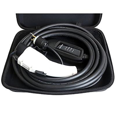 DUOSIDA 25 Ft Level 2 EV Electric Vehicle Portable Car Charger - 16-AMP 120-240V, NEMA 6-20P - Includes Storage Case (White)