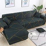 PPMP Fundas de sofá elásticas para Sala de Estar Sofá en Forma de L Necesita Comprar 2 Piezas Funda de sofá Funda de sofá de Esquina elástica Fundas A5 1 Plaza