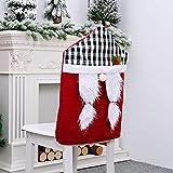 GGSVQ Conjunto de silla de enrejado de Navidad para hombre viejo, juego de taburete de muñeca imprevisto, juego de silla de dibujos animados (tamaño: tartán bosque viejo)