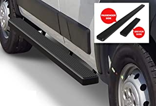 APS iBoard Running Boards (Nerf Bars Side Steps Step Bars) Compatible with 2014-2020 Dodge ProMaster Full Size Van 118 inches Wheelbase (Black Powder Coated 5 inches)