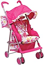Adora Doll Accessories 3-in-1 Stroller, Car Seat, Back Pack Carrier, Perfect for Kids 3 Years & up, Pink (217602)