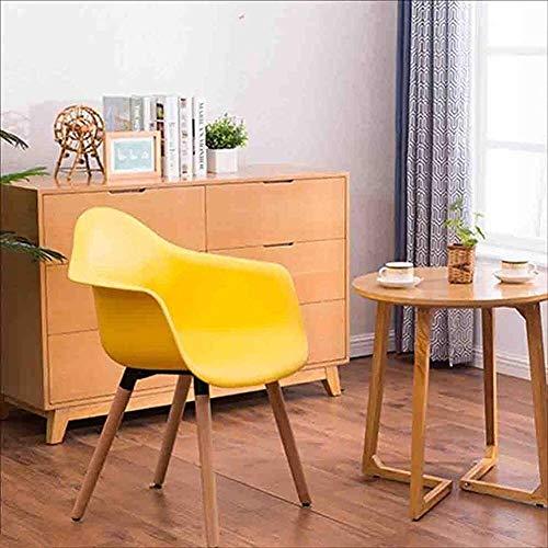 Oak Essplatzstühle Polsterledersessel Metallhülse Samt Sessel Sessel Stuhl Computer Stuhl einfach lässig Kaffee,Yellow
