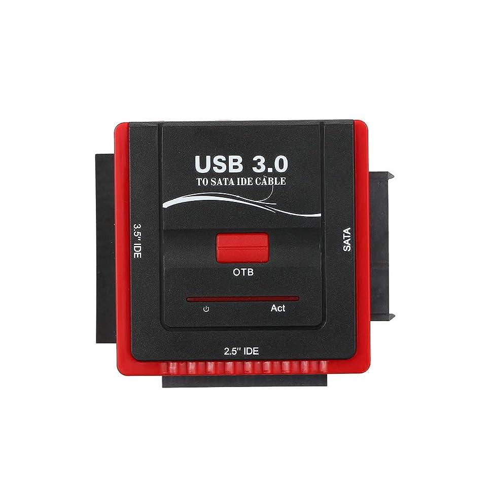 事実上山積みの同僚KKmoon USB 3.0 ATA/IDEアダプター ハードドライブ コンバータ ユニバーサル 2.5 / 3.5 HDD/SSDハードドライブ ディスク 電源付き