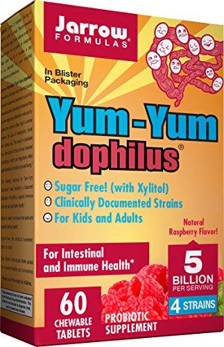 Yum-Yum Dophilus, 5 Billion Raspberry - 60 chewable tabs