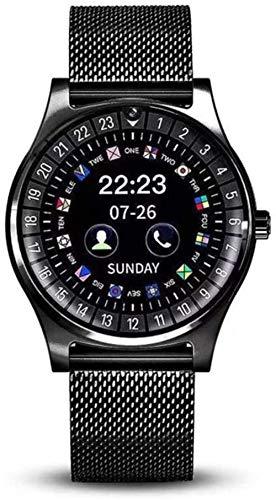 Reloj inteligente de pulsera de actividad con monitor de actividad inteligente, color negro