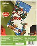 Bucilla calcetín de Fieltro de 86438Kit (40,6cm), Nieve Amigos, 16'
