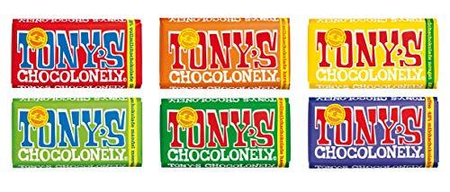 Tony's Chocolonely Schokoladen Set mit 1KG Schokolade, 6 x Sorten - Nachhaltige belgische Schokoladentafeln für Feinschmecker