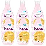 bebe Honig & Joghurt Smoothie Body Lotion - Crema hidratante para el cuidado de la piel con aroma afrutado adecuado para todos los tipos de piel, 6 x 400 ml