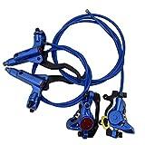 XINTUON Freno de Disco Hidráulico Bicicleta de Montaña Carcasa Azul 1 Set