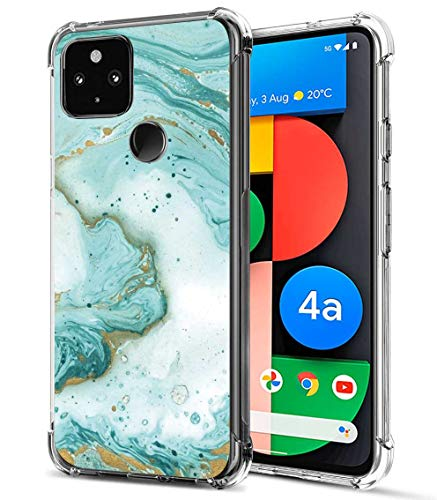 FollmeAir for Pixel 4a 5G Case, Slim Flexible TPU for Girls Women Airbag Bumper Shock Absorption Rubber Soft Silicone Case Cover Fit for Google Pixel 4A 5G (Green)