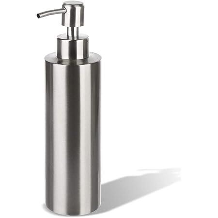 GLUBEE ハンドソープディスペンサー 304 ステンレス おしゃれ ディスペンサー シャンプー ボトル 食器用洗剤 バスルーム キッチン 洗面所などに適用 350ML (2021)