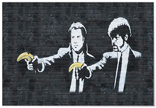 Panorama Póster Banksy Pulp Fiction 50 x 35 cm - Impreso en Papel 250gr - Banksy - Póster - Cuadros Modernos - Póster Banksy - Cuadros Decoración Salón - Cuadros Dormitorio