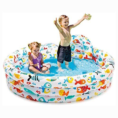 TYUIO Piscina Inflable jacuzzis bañeras inflado tinas con Bomba de Aire eléctrica for inflar con Aire Plegable Durable for Adultos Bañeras