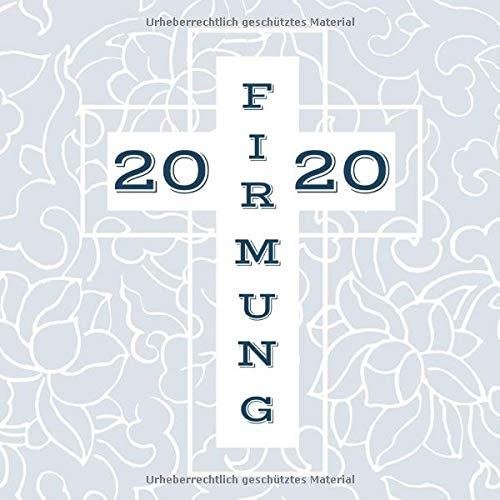 Meine Firmung: Gästebuch | Erinnerungsbuch zum Eintragen von Glückwünschen | christliche Geschenkbücher | Edition: blau