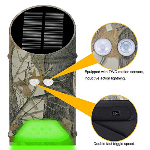 Lilbees Solar Green Feeder Lights with Motion Activated for Hog Pig Predator Coyote Varmint Deer Night Hunting(Pack of 2)