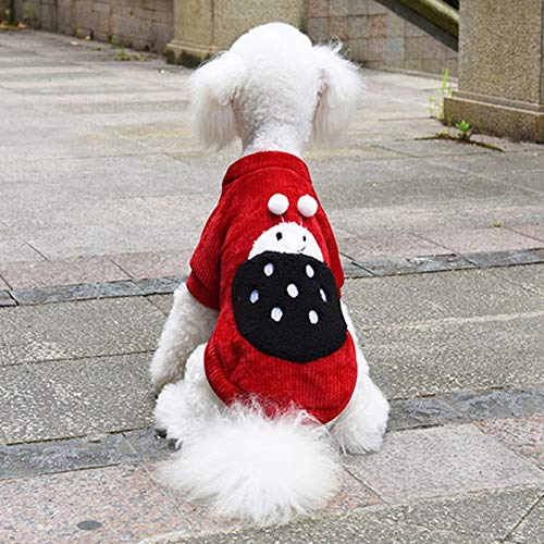 Warm Dog Clothes Giacca Da Cappotto Invernale Per Cani Da Compagnia Per Abiti Da Chihuahua Giacca Da Coccinella Per Cuccioli