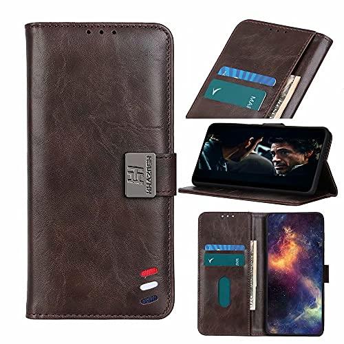 Ufgoszvp Funda tipo cartera para Nokia 7.3 de piel sintética de primera calidad con tapa tipo libro, a prueba de golpes, con ranuras para tarjetas de crédito, cierre magnético para Nokia 7.3 marrón