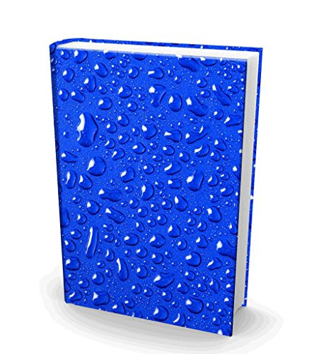 Book Sox Stretchable Book Cover H2O Fits Most Hardcover Textbooks up to 9x11 Adhesive-Free Nylon Fabric School Book Protector. Easy to Put On Washable & Reusable Jacket