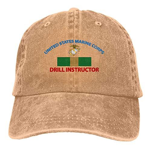 Everything Will Be OK USMC Marine Corps Drill Instructor Unisex Erwachsene Cowboyhüte Klassische Baseballmütze Denim Hüte Papa Hut
