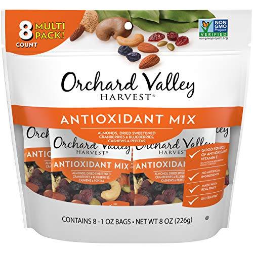 ORCHARD VALLEY HARVEST Antioxidant Mix, 1 oz (Pack of 8), Non-GMO, No Artificial Ingredients