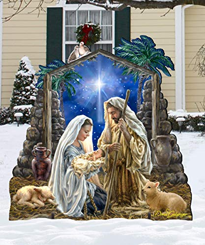 Outdoor NATIVITY Set Wooden Free-Standing Christmas Decoration by Dona Gelsinger 8461010F-1722