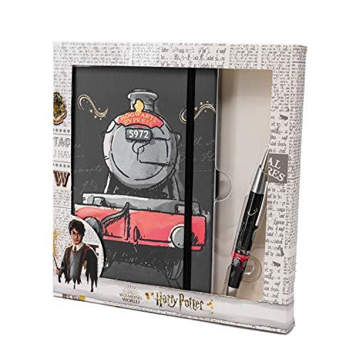 KARACTERMANIA Harry Potter Train-Caja Regalo Diario y Bolígrafo