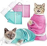Cat Washing Duschtasche, Anti-Bite Anti-Scratch-Rückhaltetasche Verstellbar Multifunktional zum...