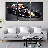 IOIP 150x70cm Bilder 3 teiliges Leinwandbild Formel 1