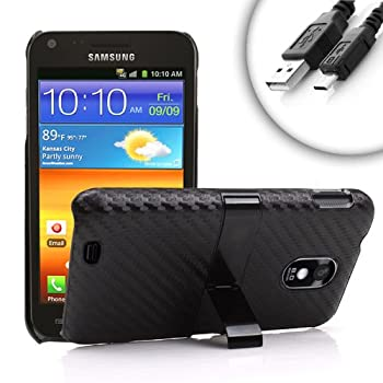 USA Gear Impact-Resistant Protective Hard Shell Case With Built-In Kickstand for Sprint Samsung Epic Touch 4G **Includes Micro USB Cable**