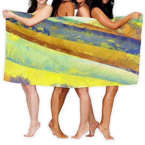 Toallas Shower Towels Bathroom Towels Estilo impresionista con textura grunge Suave y ligero para baño Piscina Yoga Pilates Manta de picnic Toallas Beach Towels 80X130CM