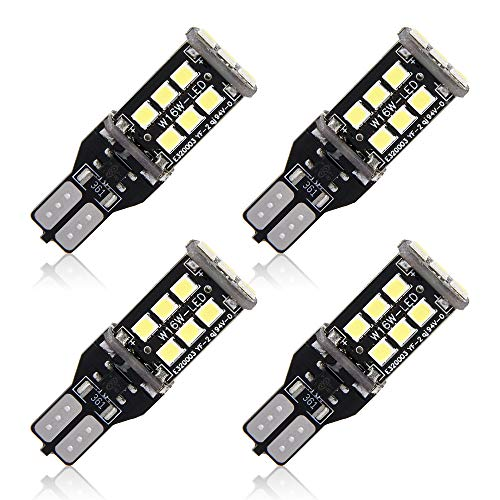 4Pcs T15 W16W LED Lampadine 15 SMD 2835 Led Retromarcia Canbus No Errori Backup