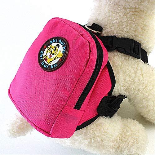 Hond Rugzakken Hond Harnas Rugzak Huisdier Rugzak Hond Reizen Accessoires Hond Rugzak Huisdier Schooltas Verstelbare Hond Rugzak Pet Bag Voor Hond rose red,l