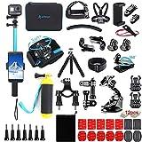 Artman Action Camera Accessories Kit 61-in-1 for Gopro Hero 9 8 7 6 5 4 3 2 1 Black Max Fusion Session Silver Akaso DJI Xiaomi Yi Apeman 2018 Insta360 EK5000 EK7000 4K Silver SJ4000