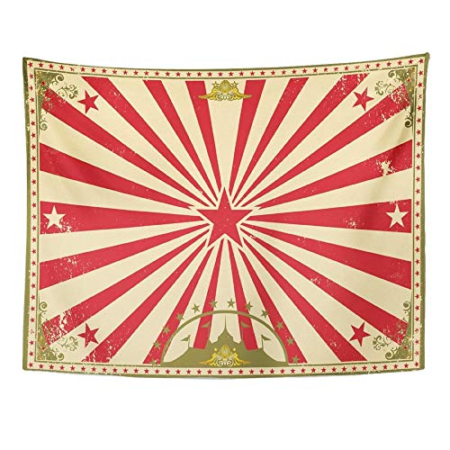 Carnival Circus Vintage para tu pantalla de tamaño perfecto, tapiz de cabaret, tapiz, decoración del hogar, colgante de pared para sala de estar, dormitorio, 150x130cm / 59x51inchch