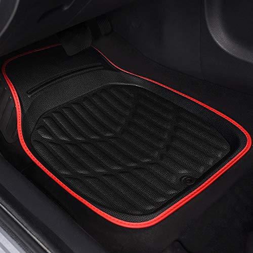 Mmhot-dbd Coches de Cuero PVC Universal Fit Floor Mats, for Peugeot 308...